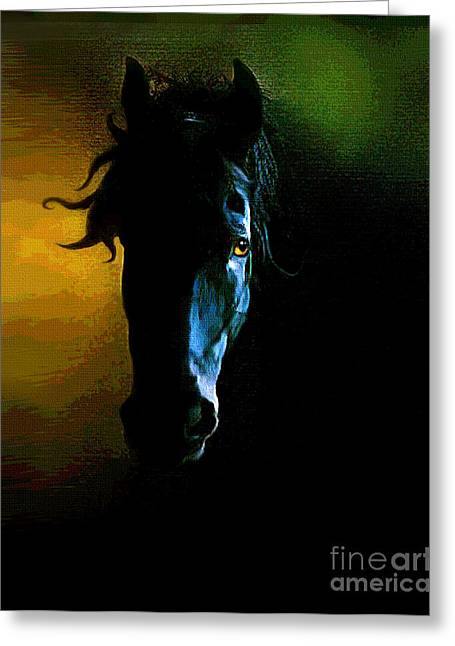 Black Beauty Greeting Card by Robert Foster