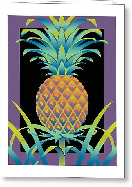 Black Bromeliad Greeting Card