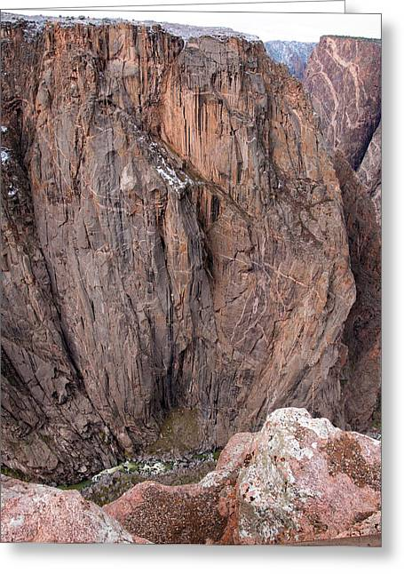 Greeting Card featuring the photograph Black Canyon Chasm View by Eric Rundle