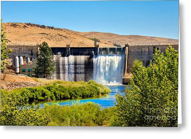 Black Canyon Dam Greeting Card by Robert Bales