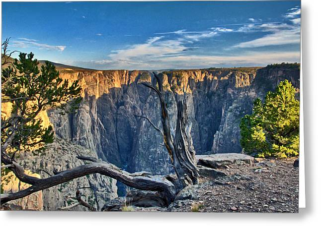 Black Canyon Fading Light Greeting Card by Eric Rundle
