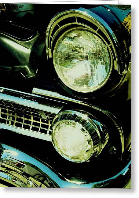 Black Classic Greeting Card by Kathleen Bischoff