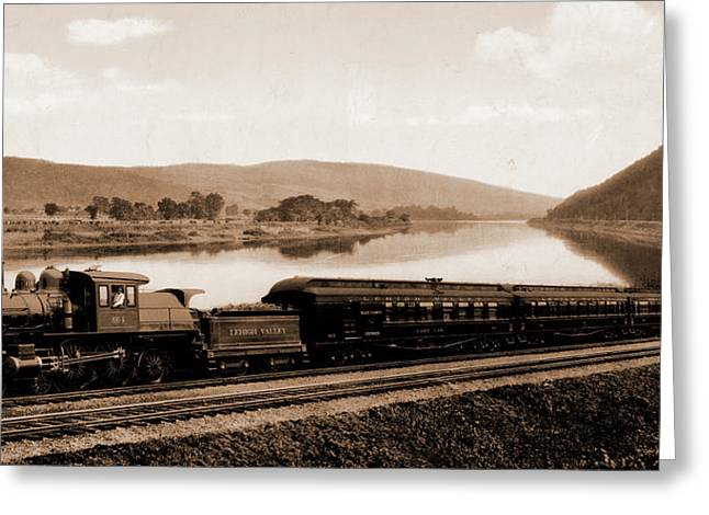 Black Diamond Express, Lehigh Valley Railroad Greeting Card by Litz Collection