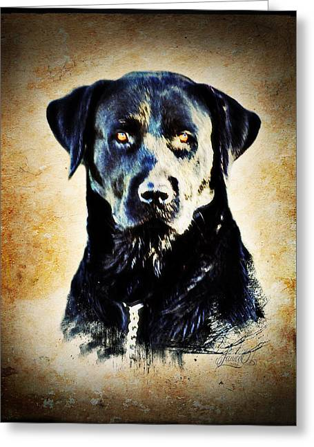 Black Dog Greeting Card