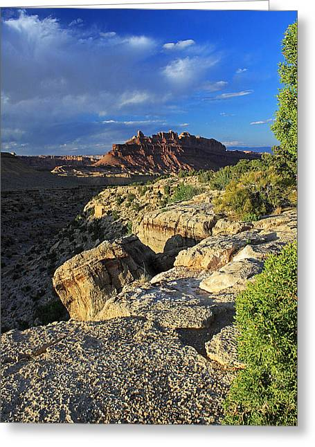Black Dragon Canyon Vista Greeting Card