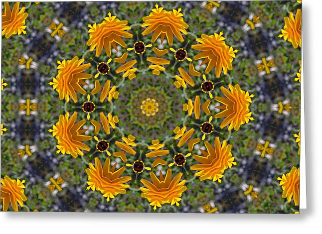 Black Eyed Susan Mandala #1 Greeting Card
