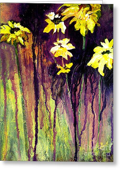 Black-eyed Susans Greeting Card by Claire Bull