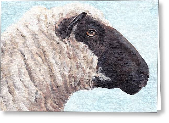 Black Face Sheep Greeting Card by Charlotte Yealey