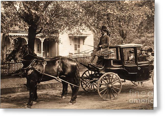 Black Family In Buggy Greeting Card