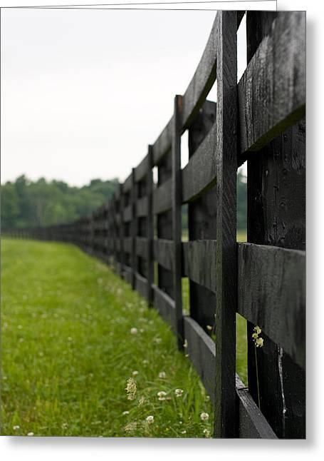 Black Fence Greeting Card by Edward Kay