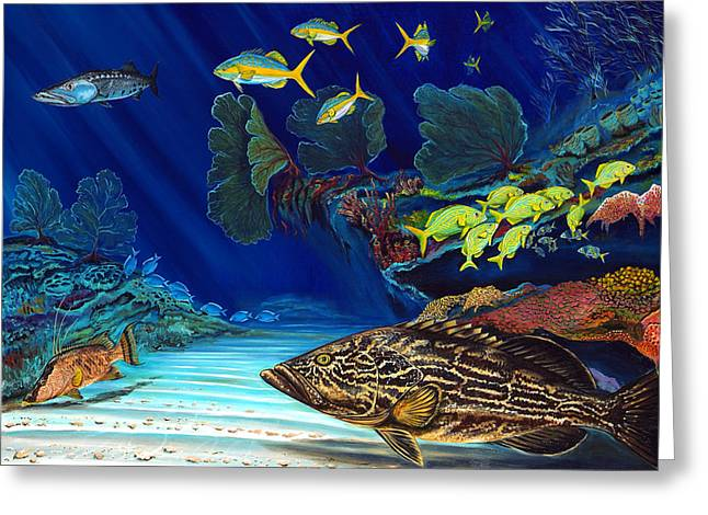 Black Grouper Reef Greeting Card