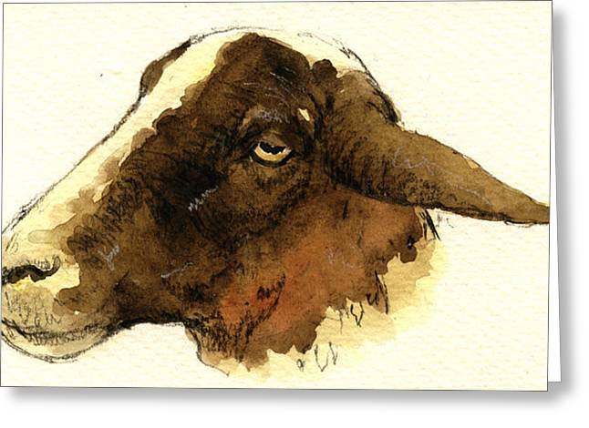 Black Head Sheep Greeting Card