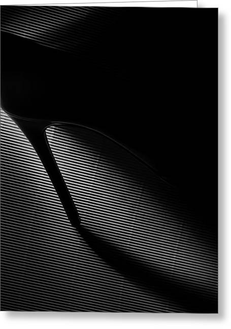 Black Heel Down Greeting Card by Erik Schottstaedt