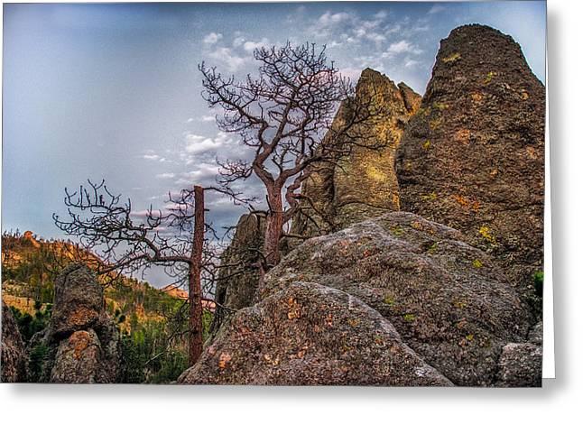 Black Hills Boulders Greeting Card