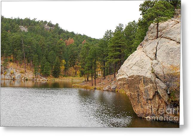 Greeting Card featuring the photograph Black Hills Lake by Mary Carol Story