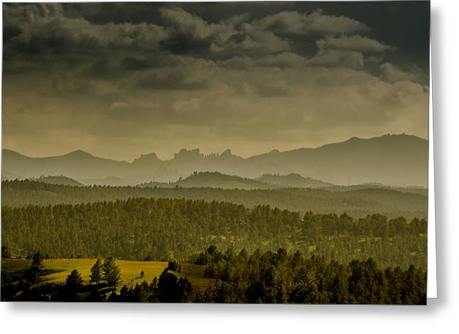 Black Hills Layers Greeting Card