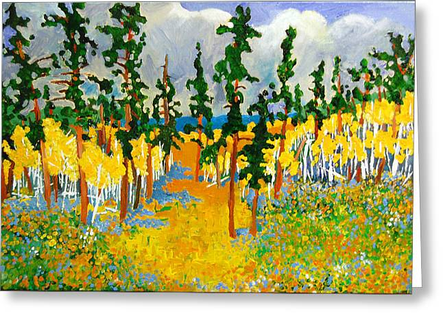 Black Hills Pass Greeting Card by Rodger Ellingson