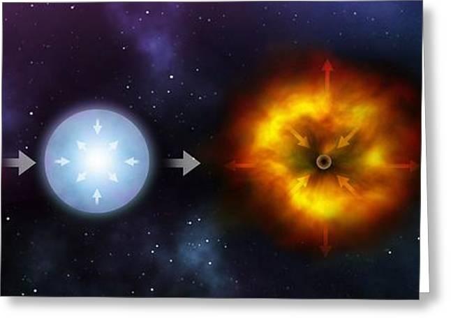 Black Hole Formation, Artwork Greeting Card