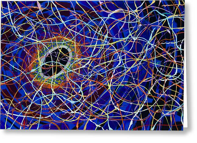 Black Hole Greeting Card by Patrick OLeary