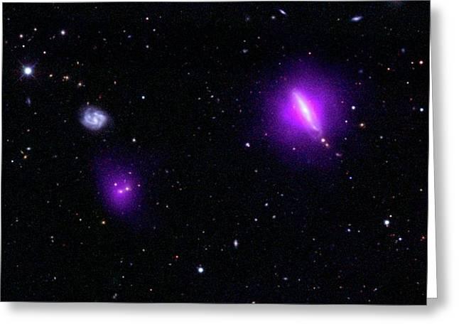 Black Holes And Galaxies Greeting Card