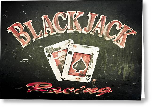 Black Jack Racing Greeting Card by Phil 'motography' Clark
