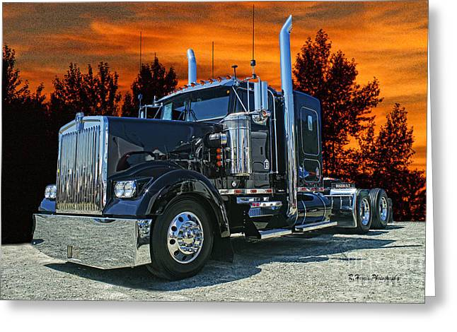 Black Kenworth Greeting Card