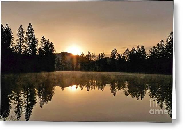 Black Lace Sunrise Greeting Card
