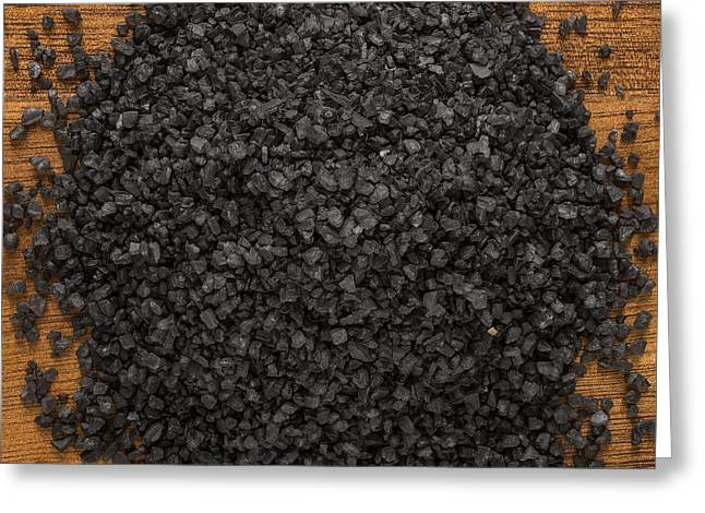 Black Lava Salt Greeting Card by Steve Gadomski