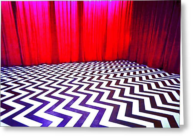 Black Lodge Blues Greeting Card