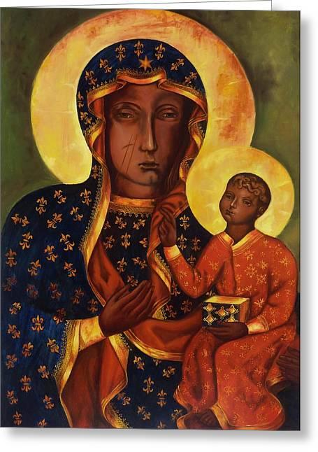 The Black Madonna Of Czestochowa Greeting Card by Irek Szelag