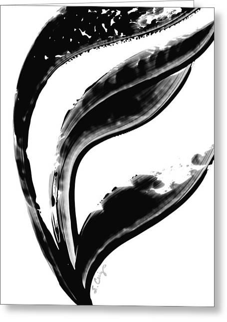 Black Magic 301 Abstract Art By Sharon Cummings Greeting Card by Sharon Cummings