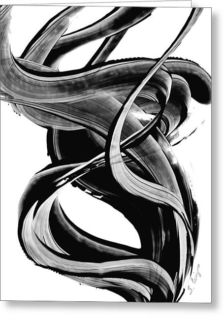 Black Abstract Art Greeting Cards - Black Magic 314 by Sharon Cummings Greeting Card by Sharon Cummings