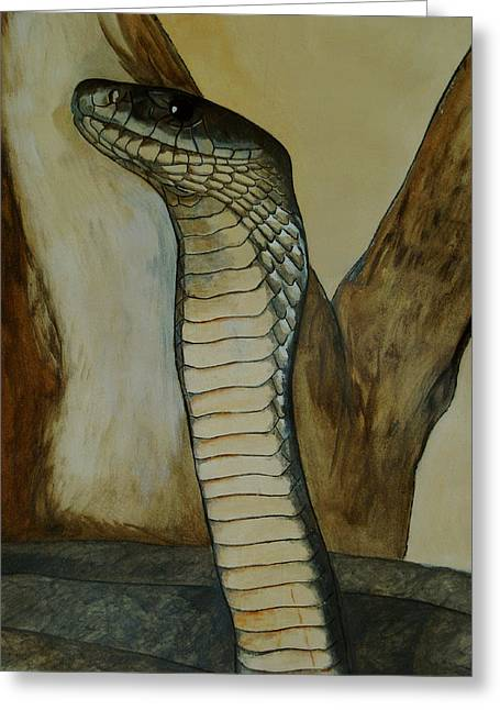 Black Mamba Greeting Card by Tracey Beer