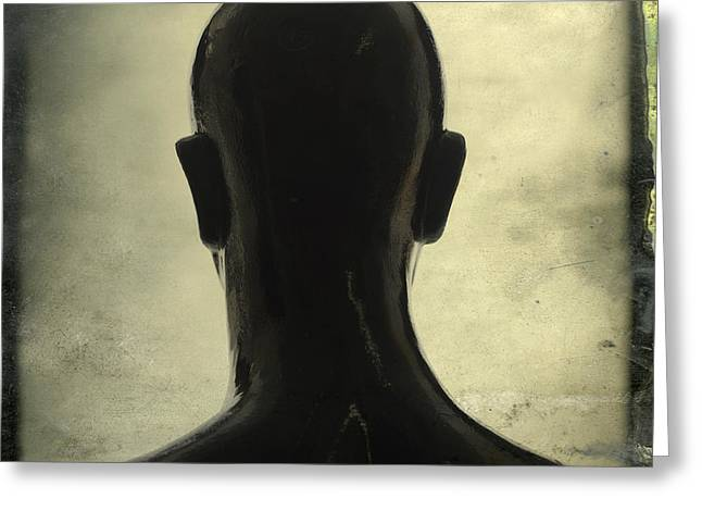 Black Mannequin Greeting Card by Bernard Jaubert