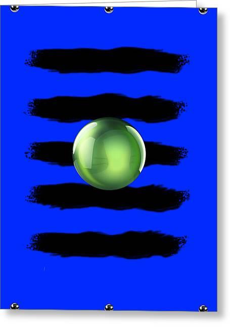 Black N' Blue Greeting Card by Brian Lyne