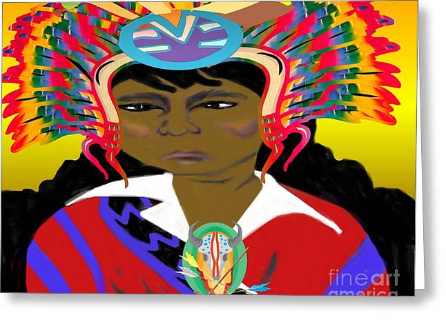 Black Native American Indian Greeting Card