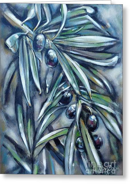 Black Olive Branch 200210 Greeting Card