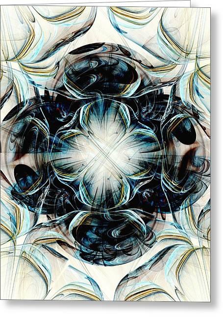 Black Pearls Greeting Card by Anastasiya Malakhova