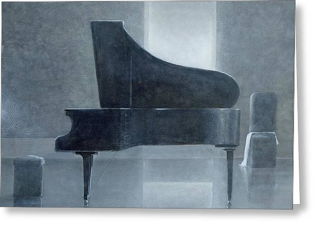 Black Piano 2004 Greeting Card