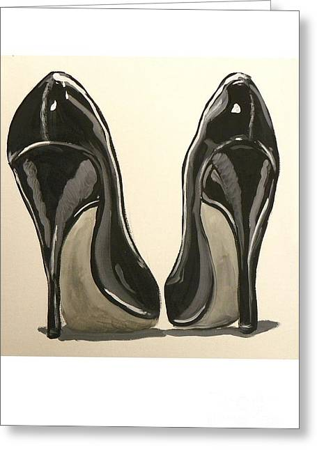 Black Pumps Greeting Card