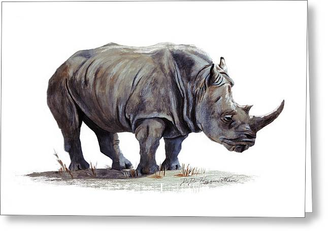 Black Rhinoceros Greeting Card