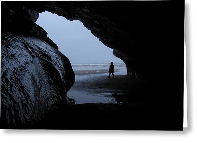 Black Rock Cave Greeting Card