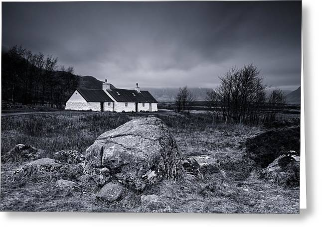 Black Rock Cottage - Glencoe Greeting Card