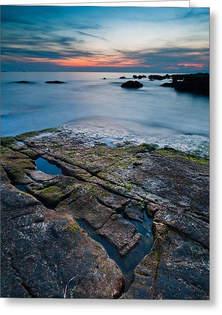 Black Rock Greeting Card by Davorin Mance