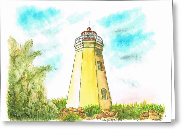 Black Rock Harbor Lighthouse - Connecticut Greeting Card by Carlos G Groppa