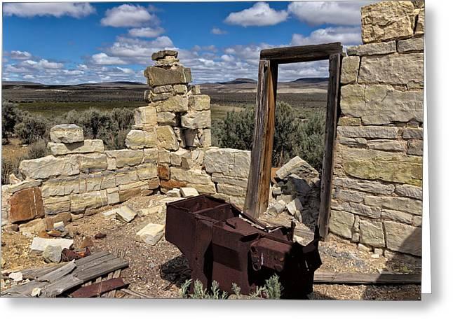 Black Rock Homestead Greeting Card by Kathleen Bishop