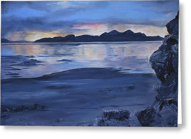 Black Rock Greeting Card by Jane Autry