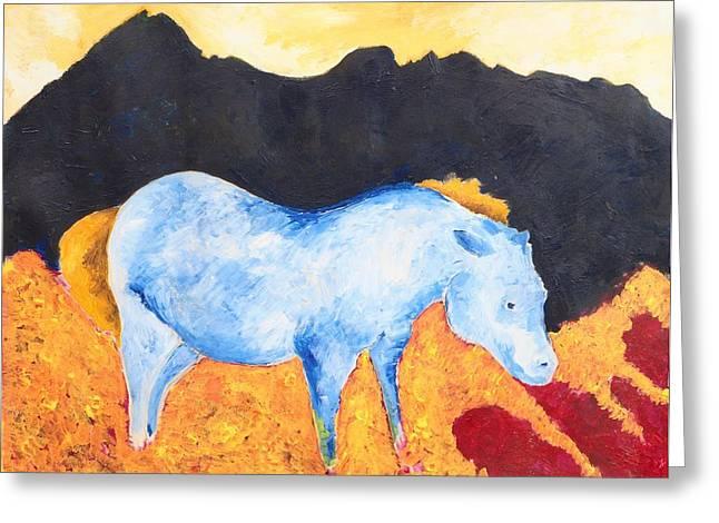 Black Rock Greeting Card by Zodiak Paredes