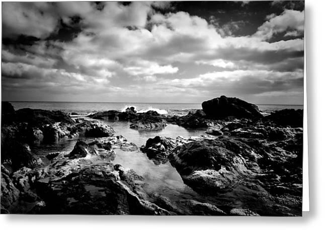 Black Rocks 1 Greeting Card