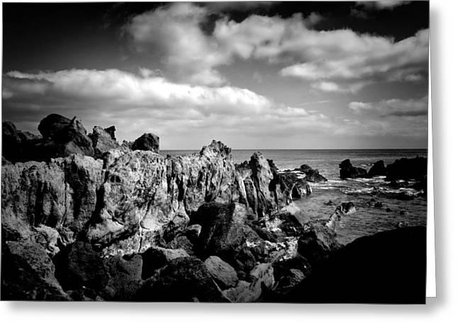 Black Rocks 3 Greeting Card